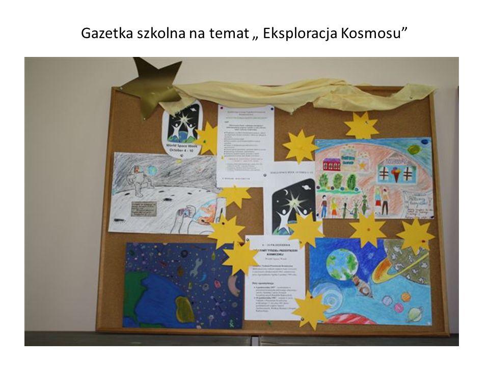 Gazetka szkolna na temat Eksploracja Kosmosu