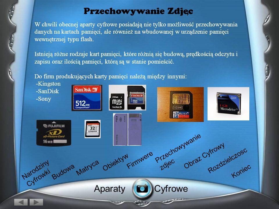 Firmware Czyli dusza cyfrówki Wewnętrzne oprogramowanie odpowiada właściwie za wszystkie procesy, zachodzące w aparacie. Poza zliczaniem danych z posz