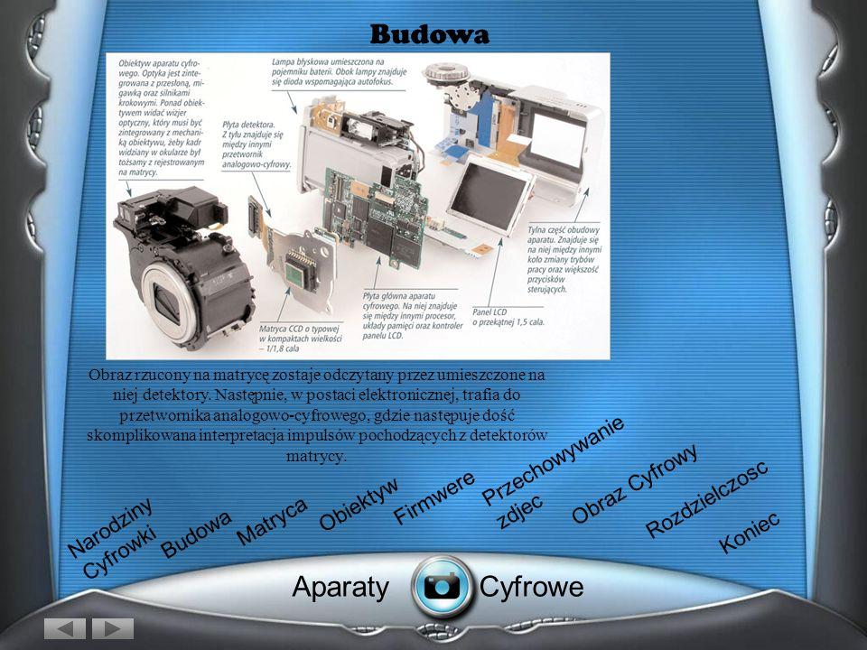 Budowa Aparat fotograficzny, zarówno cyfrowy, jak i tradycyjny, ma właściwie takie samo zadanie: za pomocą optyki (zintegrowanej z przesłoną) wpuścić