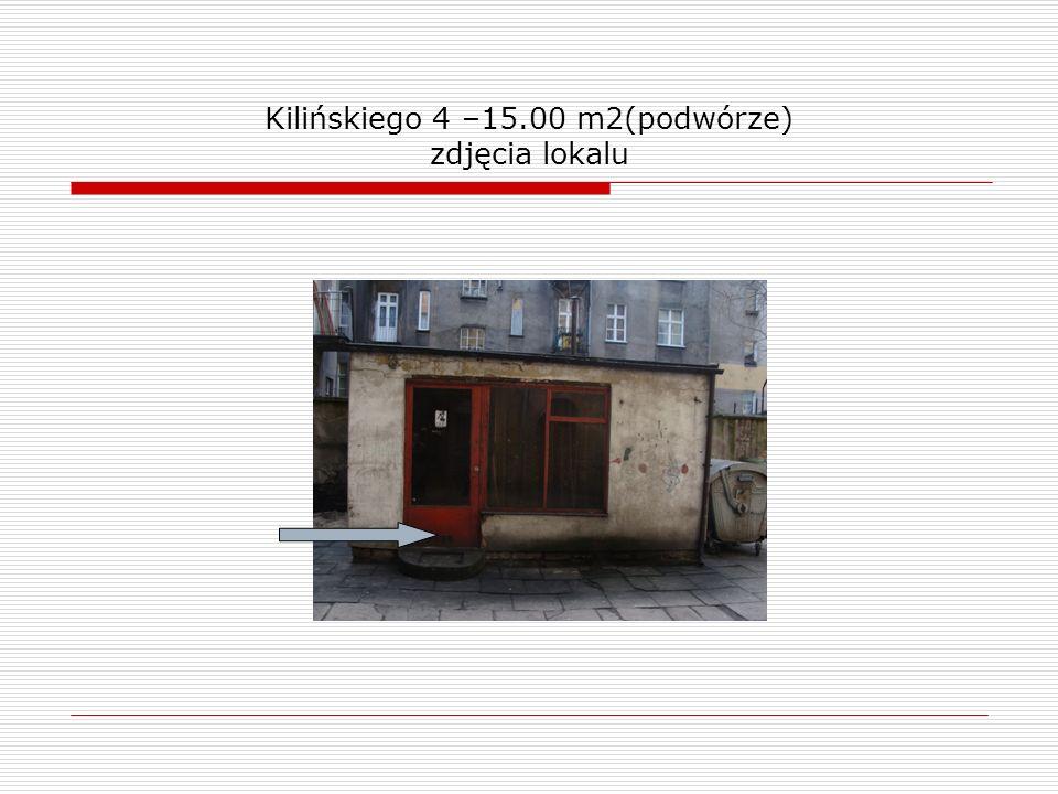 Kilińskiego 4 –15.00 m2(podwórze) zdjęcia lokalu