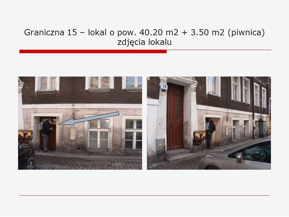Graniczna 15 – lokal o pow. 40.20 m2 + 3.50 m2 (piwnica) zdjęcia lokalu