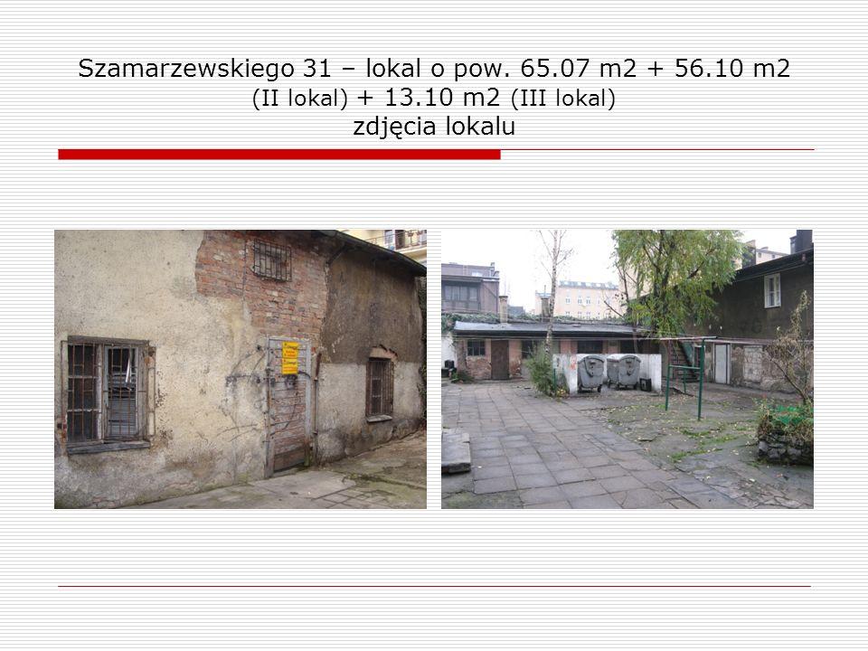 Szamarzewskiego 31 – lokal o pow. 65.07 m2 + 56.10 m2 (II lokal) + 13.10 m2 (III lokal) zdjęcia lokalu