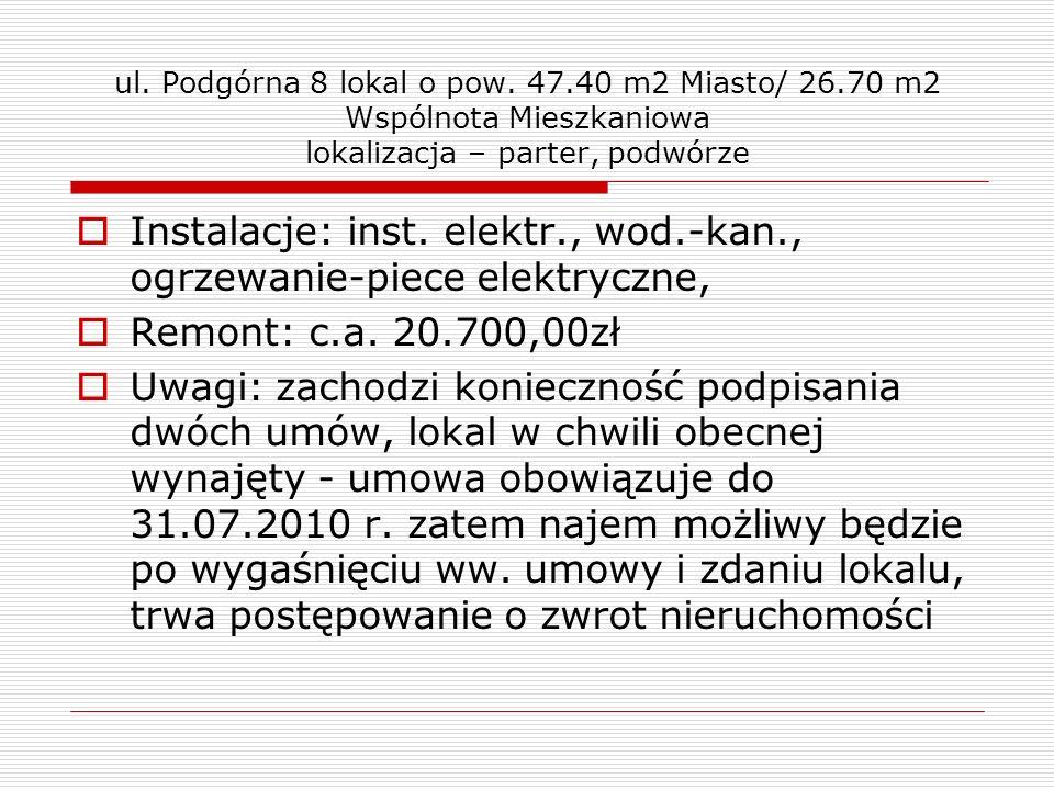 ul. Nadolnik 14 A – lokal o pow. 36.21 m2 zdjęcia lokalu, piwnica, wejście z ganku piwnicznego