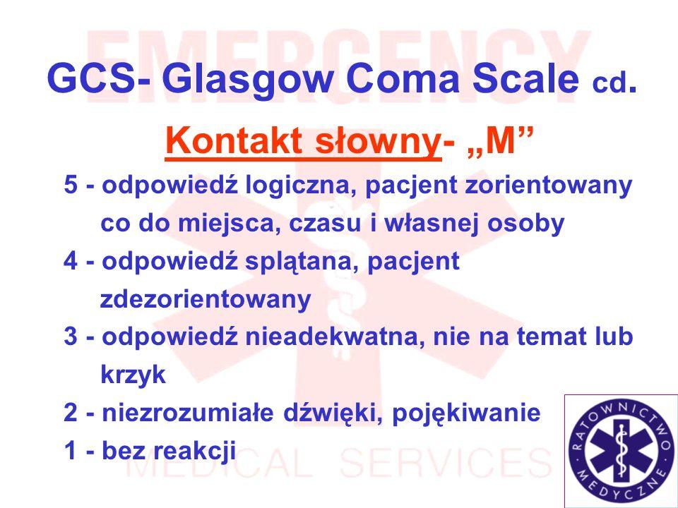 GCS- Glasgow Coma Scale cd.