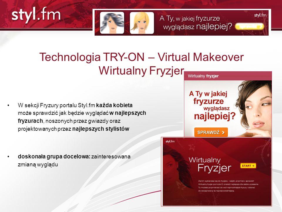 Technologia TRY-ON – Virtual Makeover Wirtualny Fryzjer W sekcji Fryzury portalu Styl.fm każda kobieta może sprawdzić jak będzie wyglądać w najlepszyc