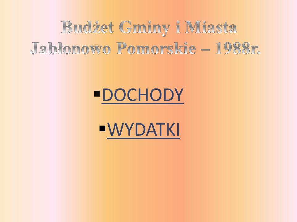 DOCHODY WYDATKI