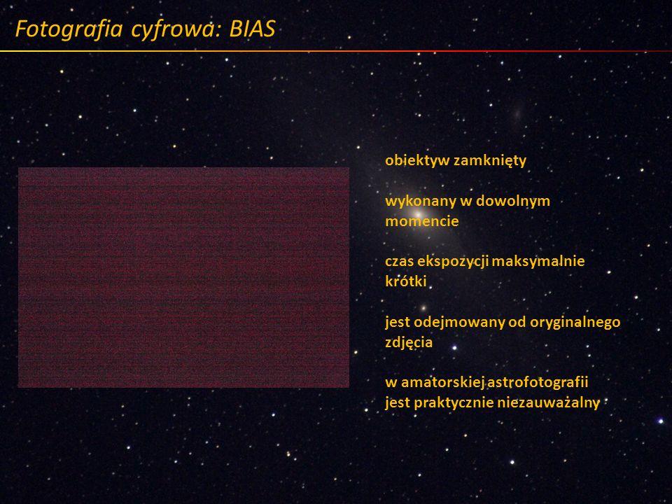 Fotografia cyfrowa: BIAS obiektyw zamknięty wykonany w dowolnym momencie czas ekspozycji maksymalnie krótki jest odejmowany od oryginalnego zdjęcia w