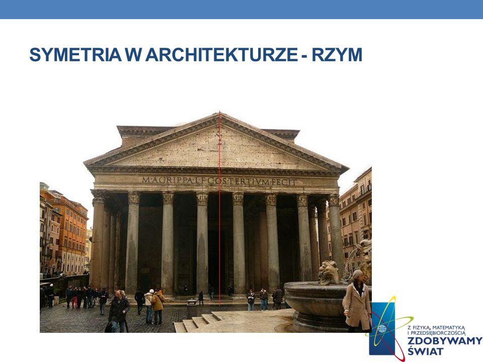 SYMETRIA W ARCHITEKTURZE - RZYM