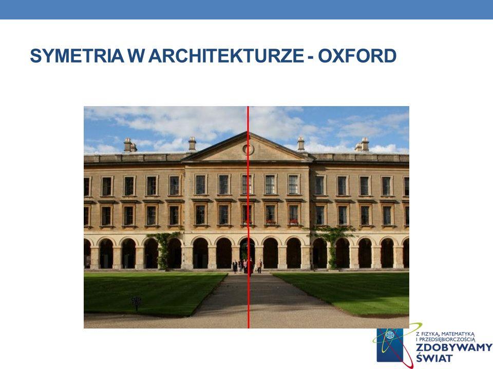 SYMETRIA W ARCHITEKTURZE - OXFORD