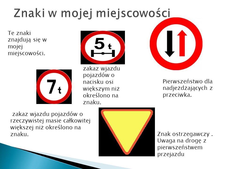 Znak ostrzegawczy. Uwaga na drogę z pierwszeństwem przejazdu Pierwszeństwo dla nadjeżdżających z przeciwka. Te znaki znajdują się w mojej miejscowości