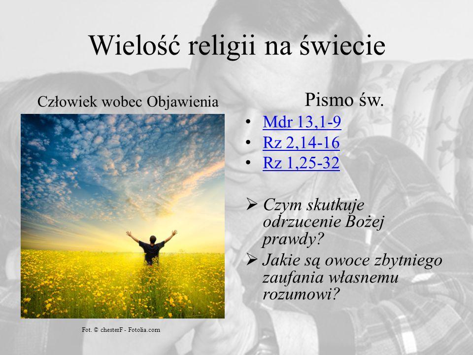 Wielość religii na świecie Człowiek wobec Objawienia Pismo św.