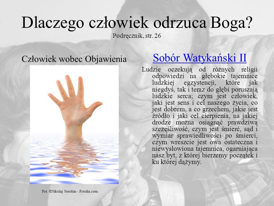 Dlaczego człowiek odrzuca Boga.Podręcznik, str.