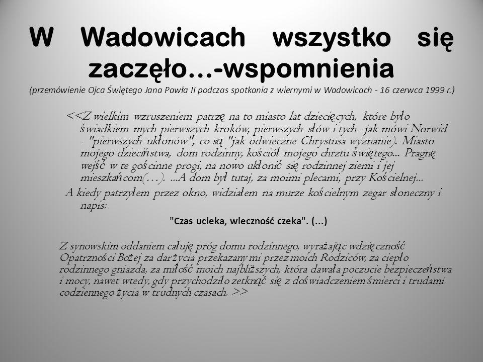 Rodzice Jana Pawła II Karol Wojtyła urodził się w Wadowicach jako drugi syn Karola Wojtyły i Emilii z Kaczorowskich.