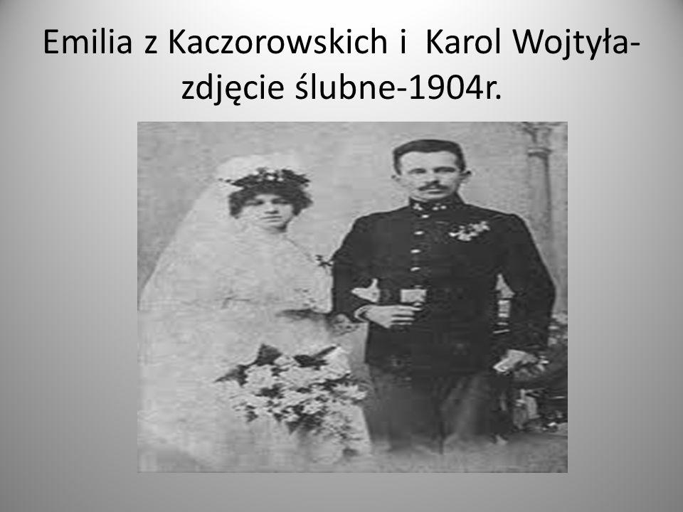 Emilia z Kaczorowskich i Karol Wojtyła- zdjęcie ślubne-1904r.