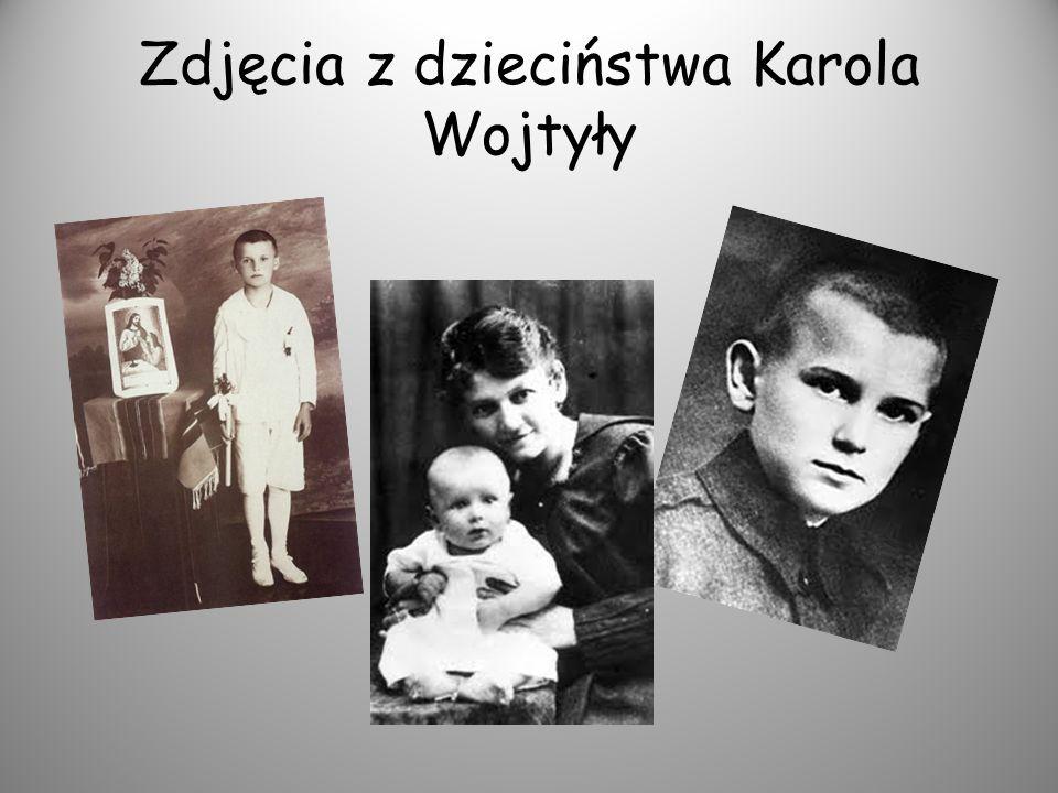 Zdjęcia z dzieciństwa Karola Wojtyły