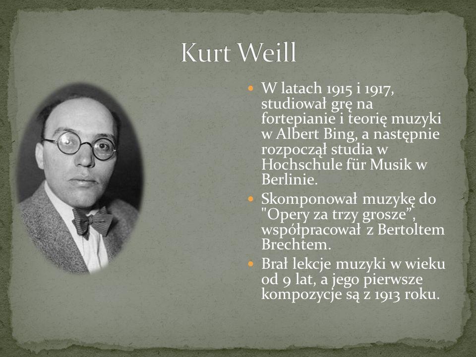 W latach 1915 i 1917, studiował grę na fortepianie i teorię muzyki w Albert Bing, a następnie rozpoczął studia w Hochschule für Musik w Berlinie. Skom