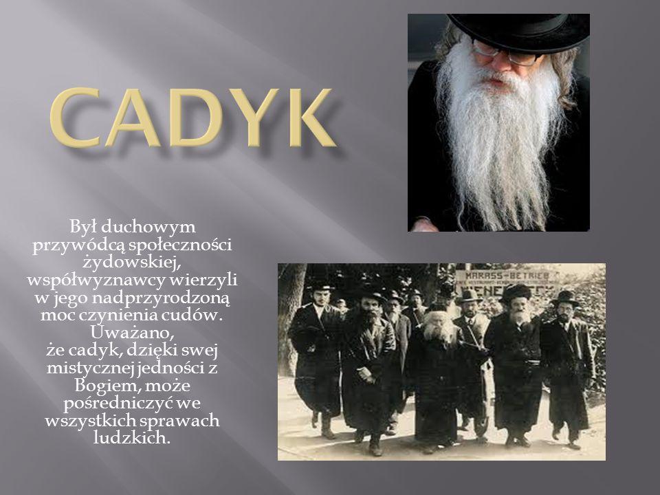 Był duchowym przywódcą społeczności żydowskiej, współwyznawcy wierzyli w jego nadprzyrodzoną moc czynienia cudów. Uważano, że cadyk, dzięki swej misty