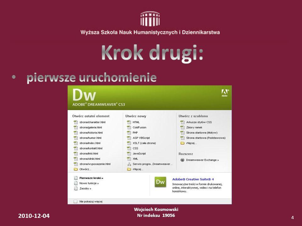 Wojciech Kosmowski Nr indeksu 19056 2010-12-04 15