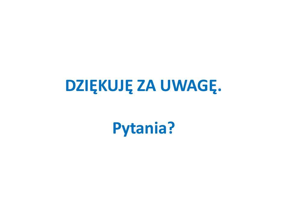 DZIĘKUJĘ ZA UWAGĘ. Pytania?