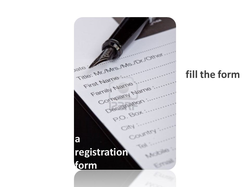 a registration form fill the form