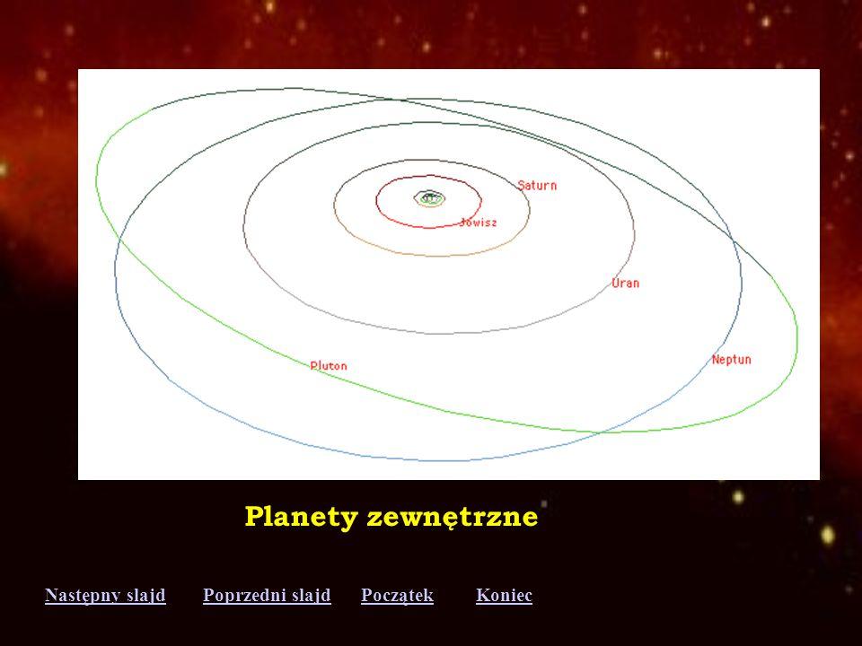 Następny slajdPoprzedni slajdKoniecPoczątek Planety wewnętrzne Merkury