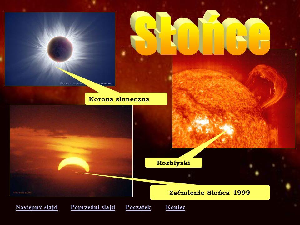 Następny slajdPoprzedni slajdKoniecPoczątek Plamy na Słońcu Protuberancja