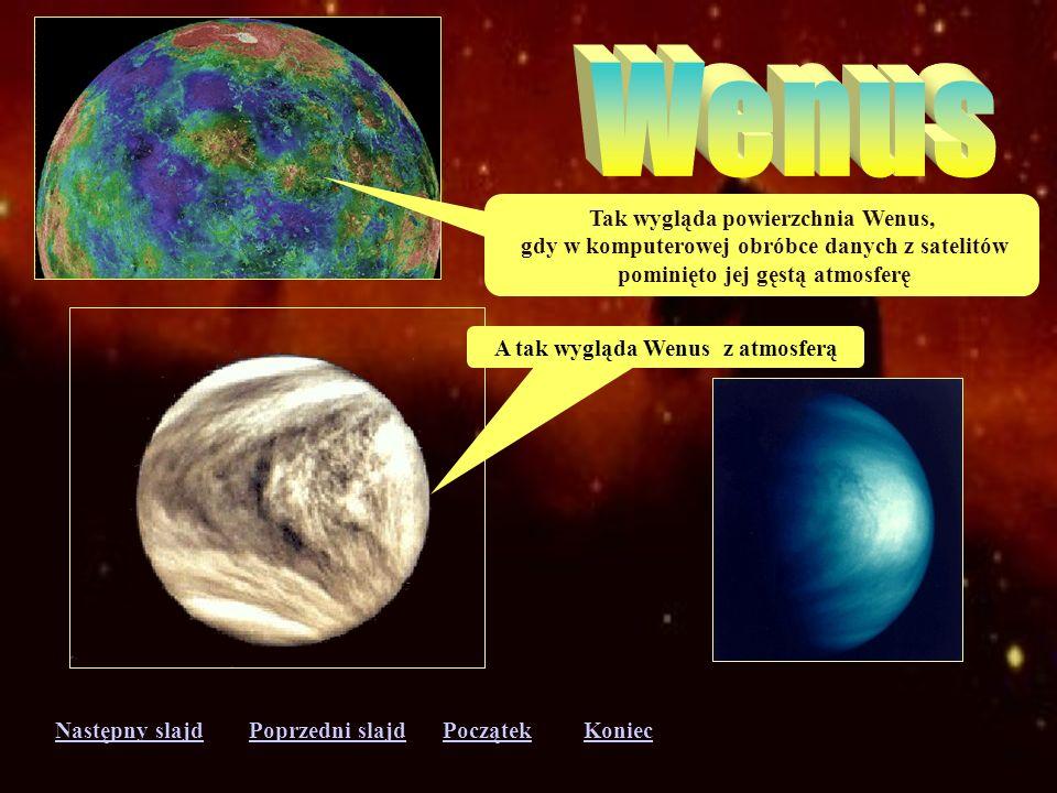 Następny slajdPoprzedni slajdKoniecPoczątek Merkury jest najbliższą planetą od Słońca. Bardzo szybko krąży wokół gwiazdy, ale bardzo wolno obraca się