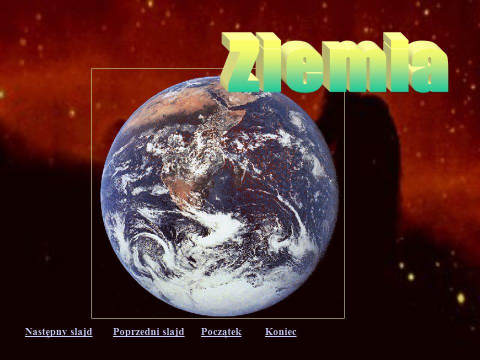 Następny slajdPoprzedni slajdKoniecPoczątek Wenus - najbardziej zagadkowa planeta, o orbicie prawie kołowej. Jeden obrót wokół własnej osi trwa aż 243