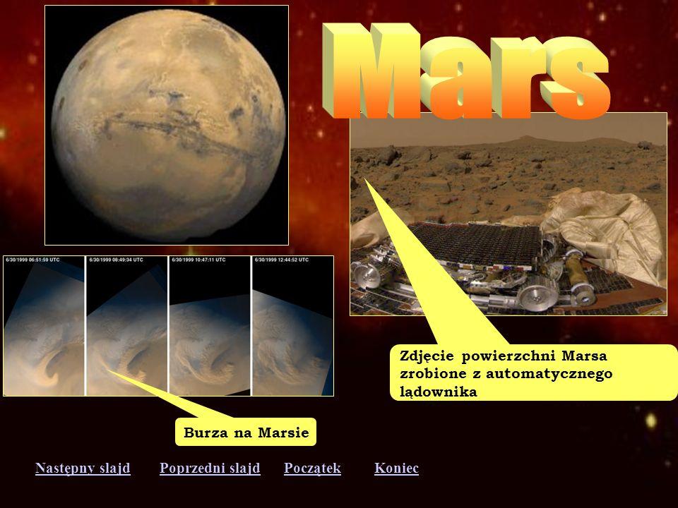 Następny slajdPoprzedni slajdKoniecPoczątek Ziemia - trzecia planeta od Słońca. Oś Ziemi nachylona do płaszczyzny orbity, dzięki czemu występują tu po