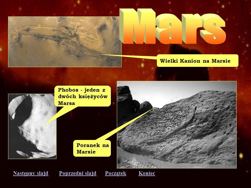 Następny slajdPoprzedni slajdKoniecPoczątek Burza na Marsie Zdjęcie powierzchni Marsa zrobione z automatycznego lądownika