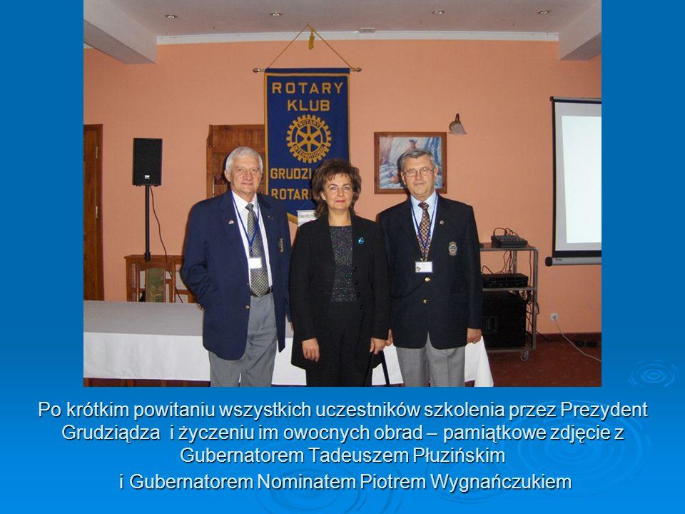 Po krótkim powitaniu wszystkich uczestników szkolenia przez Prezydent Grudziądza i życzeniu im owocnych obrad – pamiątkowe zdjęcie z Gubernatorem Tade