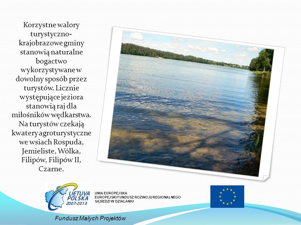 Korzystne walory turystyczno- krajobrazowe gminy stanowią naturalne bogactwo wykorzystywane w dowolny sposób przez turystów. Licznie występujące jezio