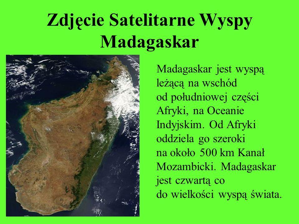 Zdjęcie Satelitarne Wyspy Madagaskar Madagaskar jest wyspą leżącą na wschód od południowej części Afryki, na Oceanie Indyjskim. Od Afryki oddziela go