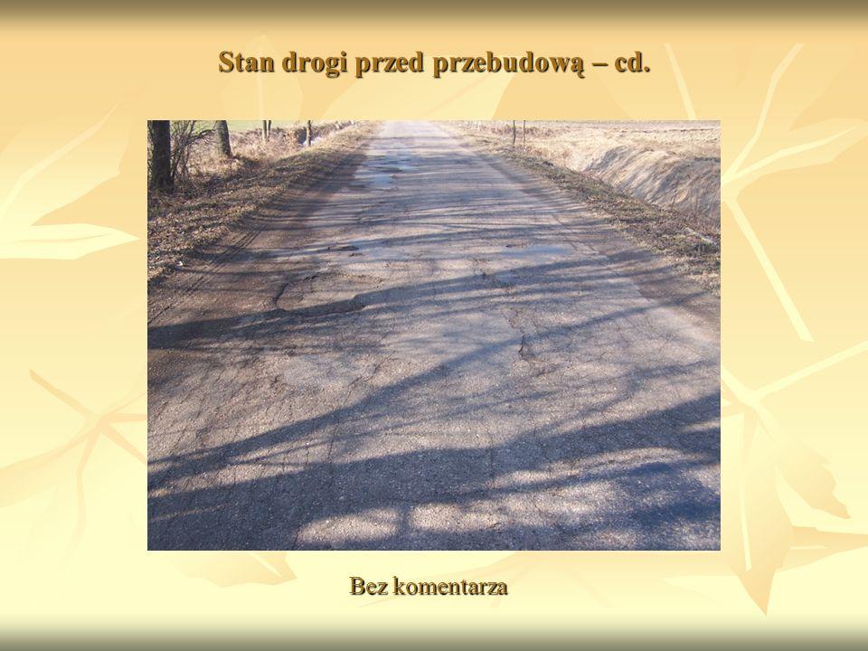 Stan drogi przed przebudową – cd. Bez komentarza