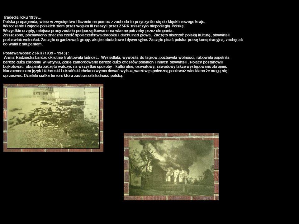 Tragedia roku 1939… Polska propaganda, wiara w zwycięstwo i liczenie na pomoc z zachodu to przyczyniło się do klęski naszego kraju. Wkroczenie i zajęc