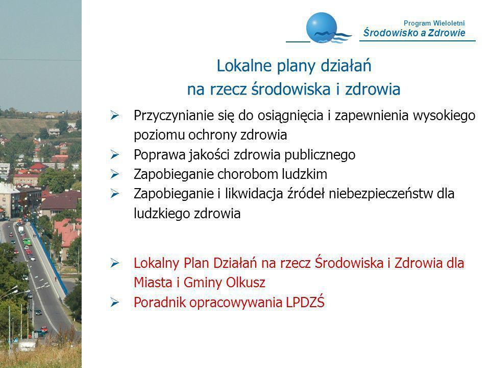 Program Wieloletni Środowisko a Zdrowie Przyczynianie się do osiągnięcia i zapewnienia wysokiego poziomu ochrony zdrowia Poprawa jakości zdrowia publi