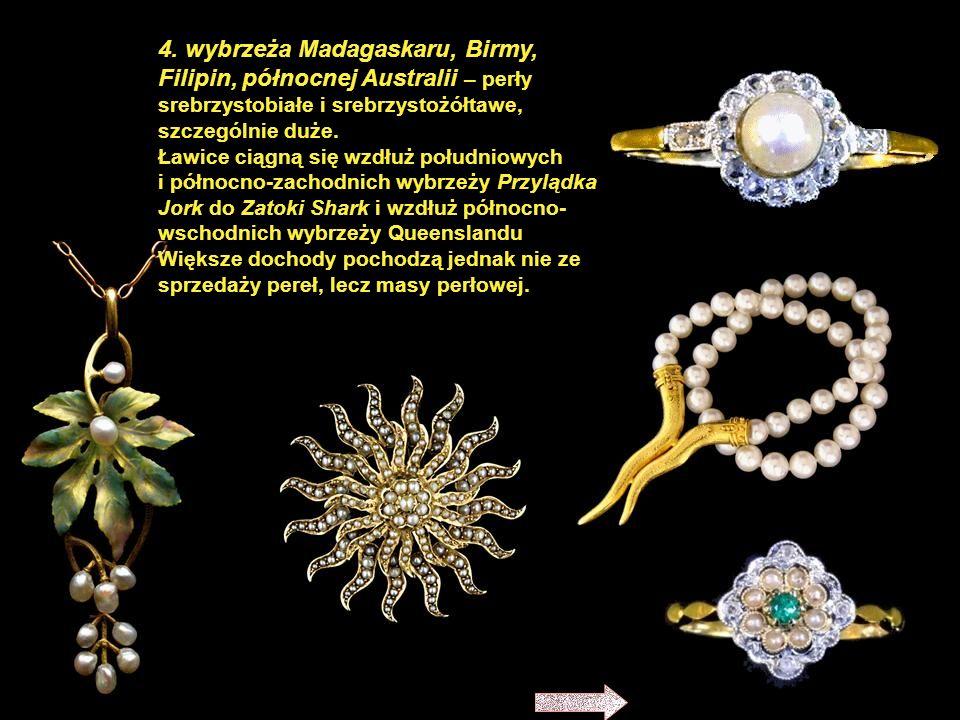 3. wybrzeża Morza Czerwonego – perły białe i białokremowe