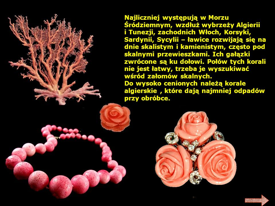 1.Zatoka Perska – perły różowe i białokremowe; zwykle drobne od 12 granów.