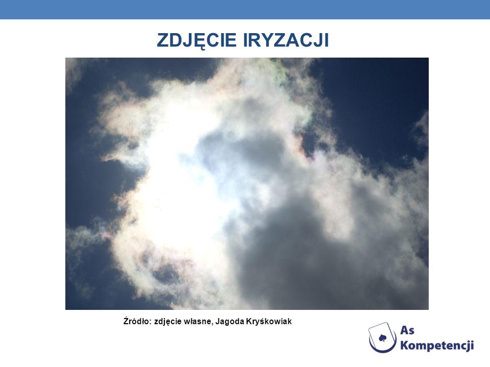 ZDJĘCIE IRYZACJI Źródło: zdjęcie własne, Jagoda Kryśkowiak