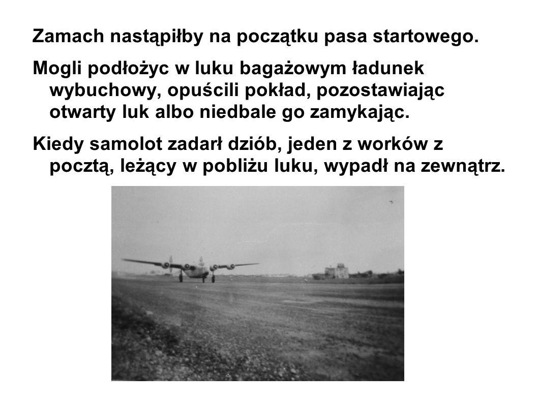 Zamach nastąpiłby na początku pasa startowego.