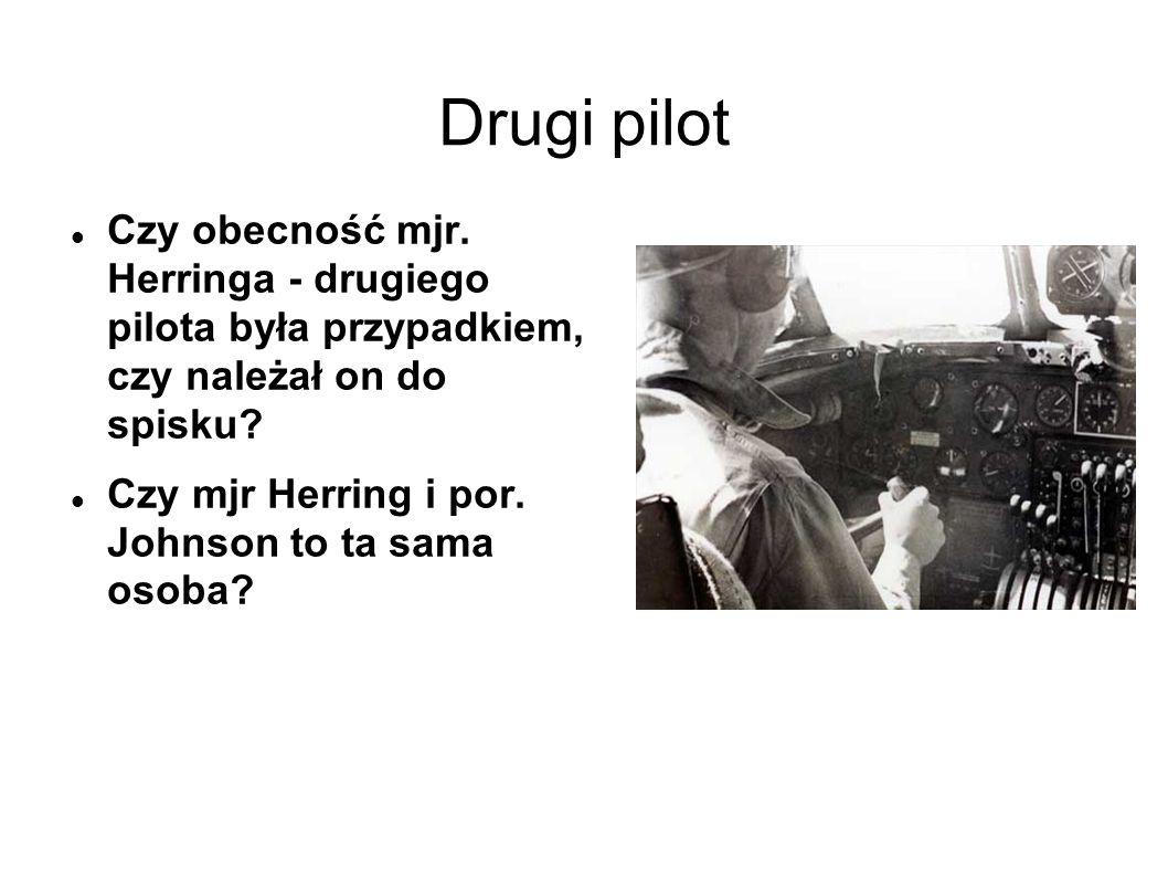 Drugi pilot Czy obecność mjr.