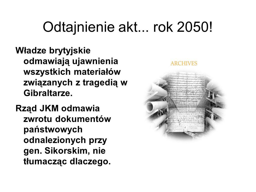 Odtajnienie akt...rok 2050.