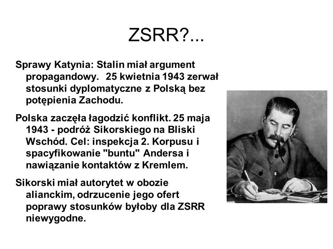 ZSRR?...Sprawy Katynia: Stalin miał argument propagandowy.