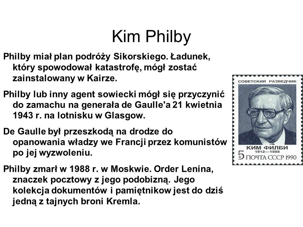 Kim Philby Philby miał plan podróży Sikorskiego.
