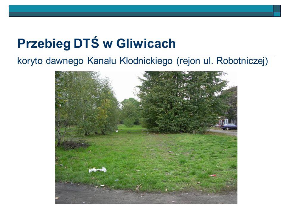 Przebieg DTŚ w Gliwicach koryto dawnego Kanału Kłodnickiego (rejon ul. Robotniczej)