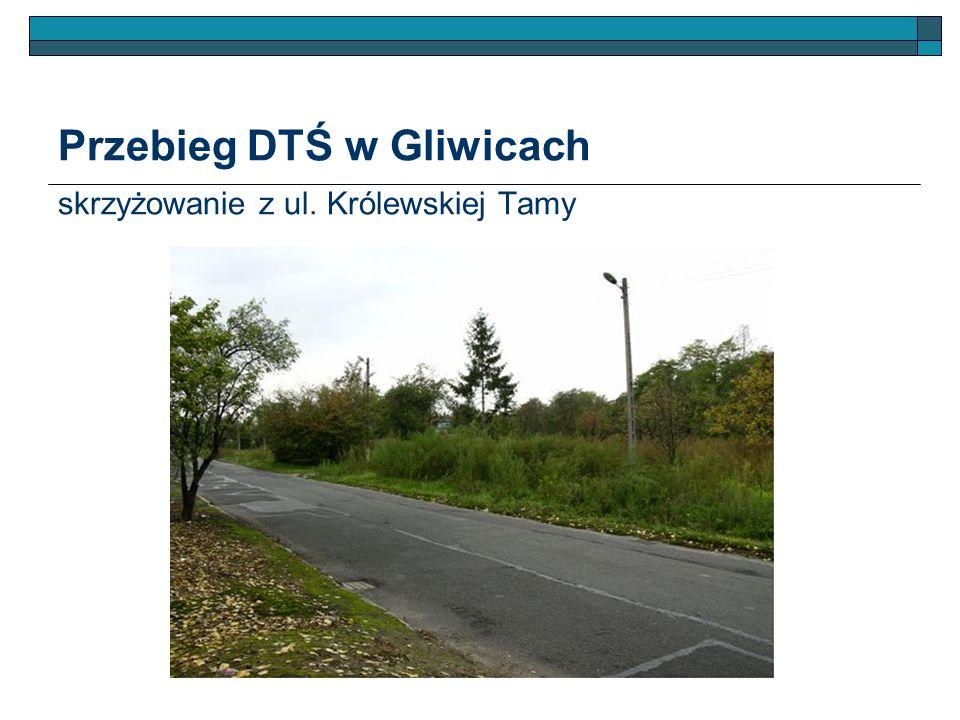 Przebieg DTŚ w Gliwicach skrzyżowanie z ul. Królewskiej Tamy