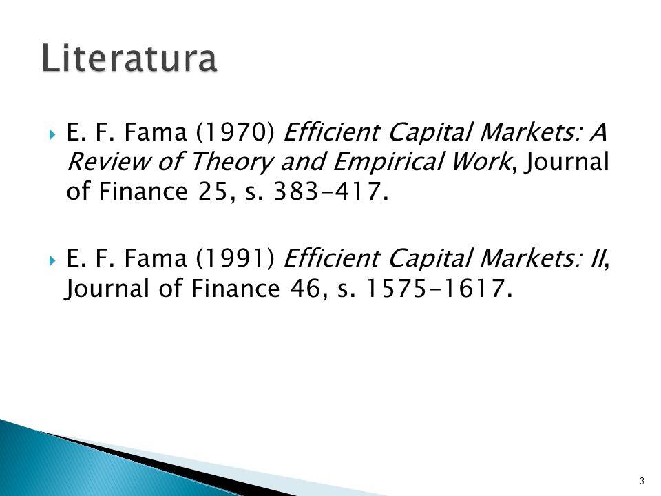 Rynek finansowy Hipoteza efektywności rynków finansowych Formy efektywności Idea testów efektywności Konsekwencje efektywności rynków finansowych Odchylenia od efektywności - anomalie Hipoteza racjonalnych oczekiwań 4