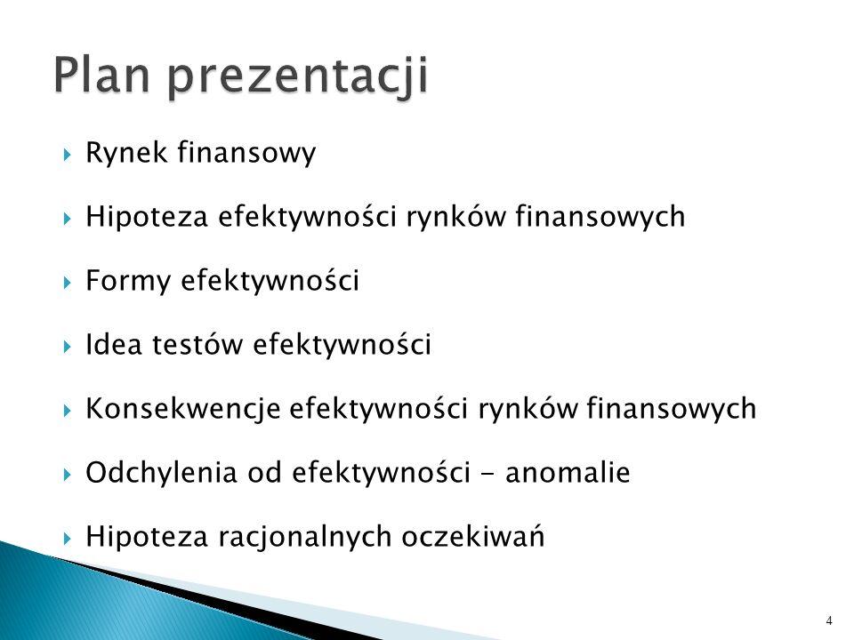 Miejsce zawierania transakcji mających za przedmiot szeroko rozumiany kapitał finansowy. 5