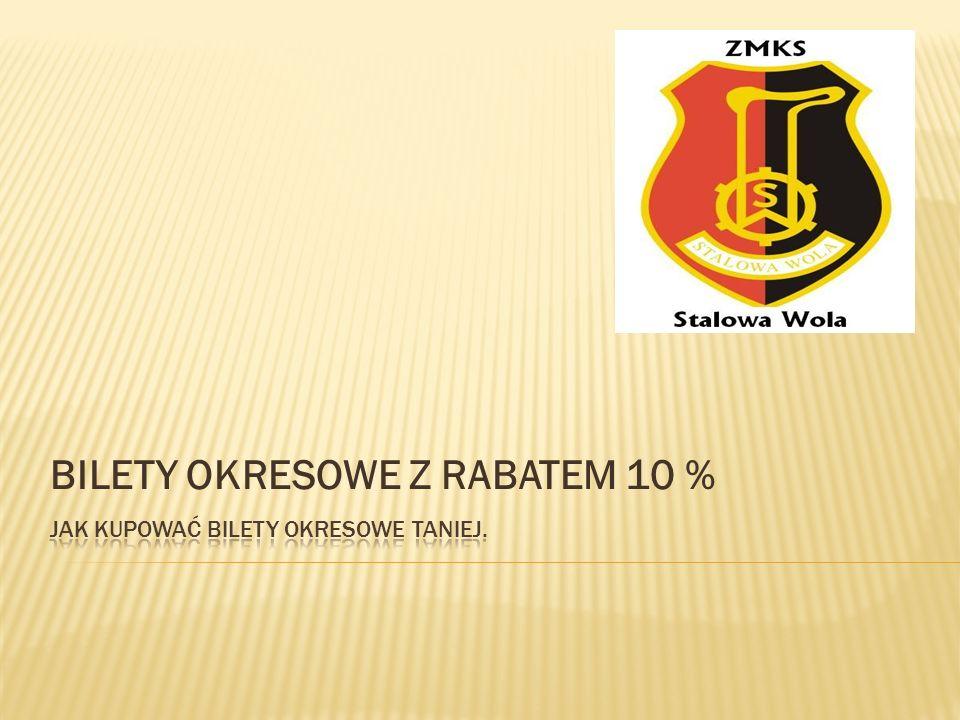 BILETY OKRESOWE Z RABATEM 10 %
