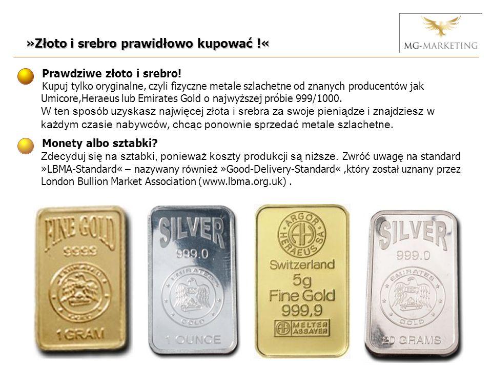 Dlaczego nie w filiach bankowych: Banki sprzedają w ponad 98% nieprzydzielone złoto lub częściowej własności.